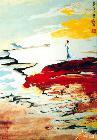当代帛画69-《昇月》