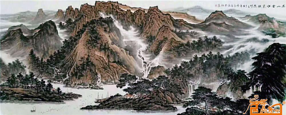 作品29  远山云海图